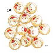 DIYアクセサリー クリスマス テーマの図案 タイムの宝石 クリスタルガラス 冷蔵庫に貼る
