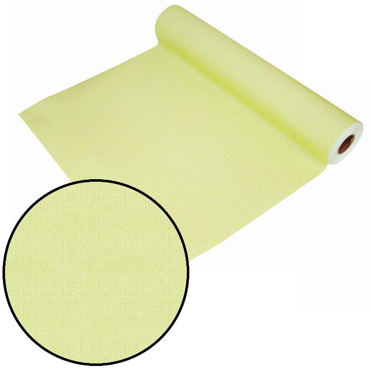 はがせるシール壁紙 ウォールデコシート【15m巻】 無地のように使える織物調 ライトグリーン【GP-11535】
