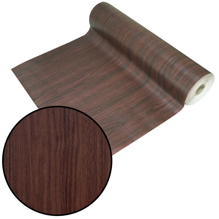 はがせるシール壁紙 ウォールデコシート【30m巻】重厚感のあるダークブラウンの木目柄 【DW-33】