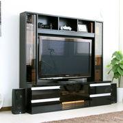 ハイタイプ 鏡面  50インチ対応 TV台  ゲート型 150cm幅 ブラック FS-15150BK