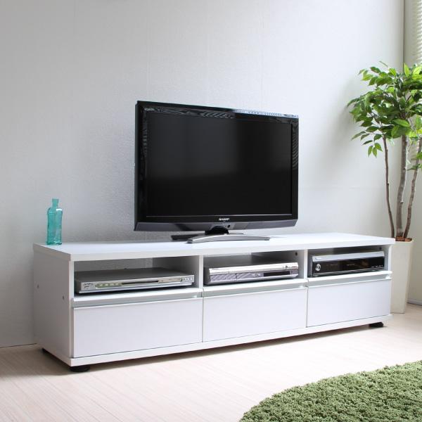 【6月中旬入荷予定】テレビ台 ローボード 140cm幅 ホワイト JTV-140WH