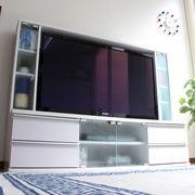 【9/上】テレビ台 ゲート型 50インチ 大型テレビ対応 ホワイト JSTV-5036WH