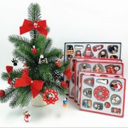 クリスマス用品 クリスマスツリーの飾り 小柄な飾り 木製小判 カセット クリスマス・アクセサリー
