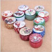 クリスマス 装飾品 熱販売 かわいい 砂糖箱 キャンドル 鉄箱