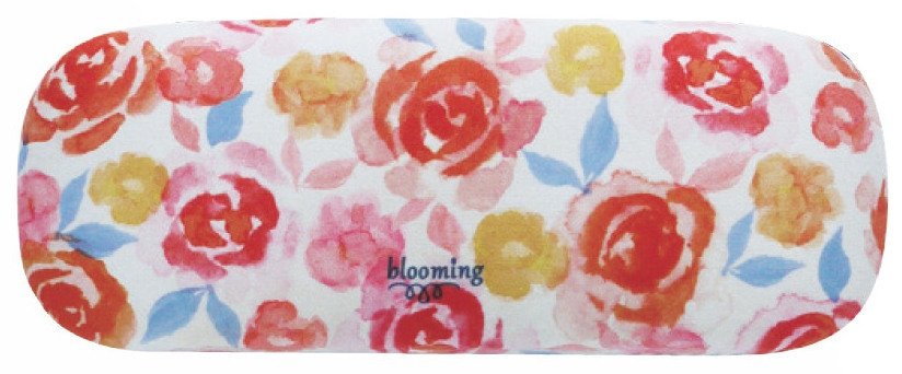 現代百貨 blooming メガネケース レッドオレンジ