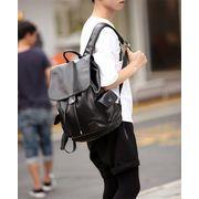 「2018新商品発表」 韓国ファッション シンプルなショルダーバッグ レザー ビジネスバックパック