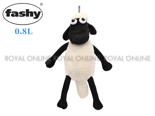 S) 【FASHY】 HWB 6634 ひつじのショーン 湯たんぽ 0.8L  ブラック/ホワイト