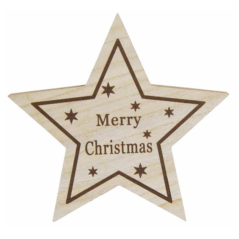 [掛率ダウン!]<AMANO>【クリスマス】【木製オブジェ】X'masウッドスター