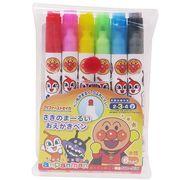 【ペンその他】アンパンマン カラーペンセット さきのまるーいおえかきペン 6色/マイファーストセイカ