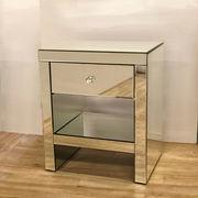 【ミラー家具】 チェスト 鏡 ディスプレイ台 サイドテーブル(直送可能)