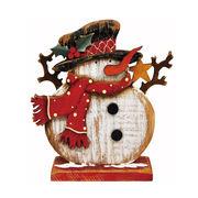 [掛率ダウン!]<AMANO>【クリスマス】【木製オブジェ】木製スタンド・スノーマン