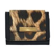 【予約販売】(12月納品)レオパード 豹 ヒョウ 三つ折財布 レイナ