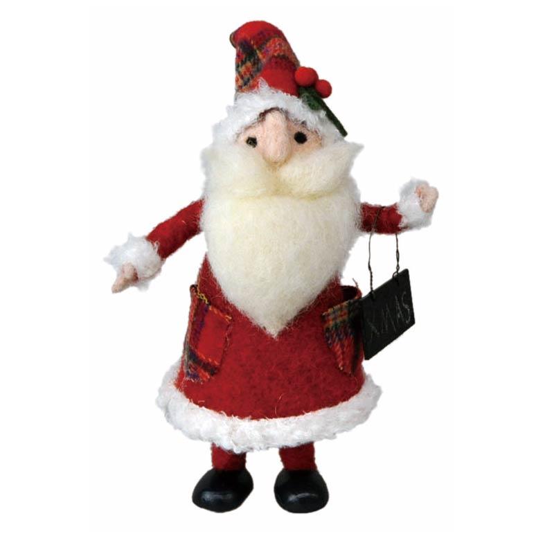 [掛率ダウン!]<AMANO>【クリスマス】【ウールマスコット】ウール立サンタ・大