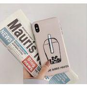 iPhoneXS iphoneケース タピオカミルクティー ケースカバー スマホケース  英字 ファッション