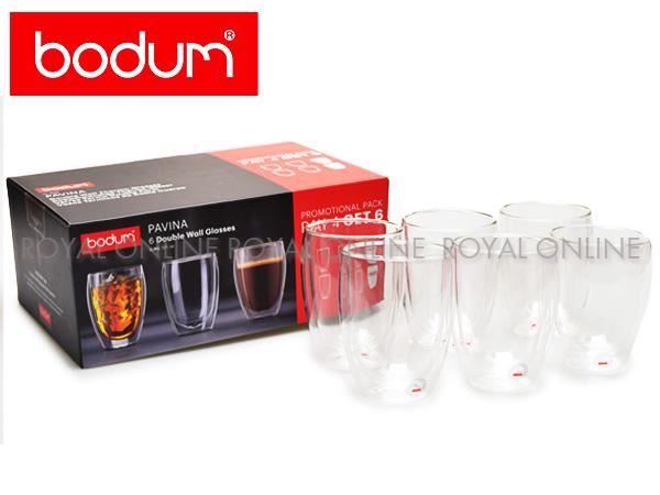 Y) 【ボダム】 4559-10-12US BODUM PAVINA パヴィーナ ダブルウォールグラス クリア 0.35L 6個セット