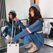 この季節に大活躍 大人の魅力   韓国ファッション   CHIC気質  ゆったりする  ニットトップス