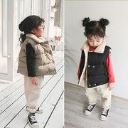 裏起毛  厚手ップス チョッキ ダウンコート ジャケット アウター  女の子 キッズ SALE 韓国子供服 kids