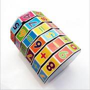 円柱形 プラスチック 魔方 子供 数字の魔方 知恵 おもちゃ 円柱の魔方