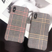 アイフォン10ケース チェック柄背面カバー iPhone Xs ケース