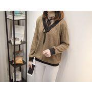 秋冬新商品730314 大きいサイズ 韓国 レディース ファッション  セーター パーカー  3L 4L 5L 6L