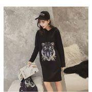 秋冬新商品730319 大きいサイズ 韓国 レディース ファッション ワンピース パーカー3L 4L 5L 6L