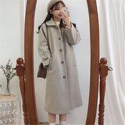 韓国 スタイル ファッション レディース 韓国風 中長スタイル ゆったり ダッフル コート アウター