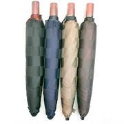 【日本製】【折りたたみ傘】【紳士用】日本製甲州産先染朱子格子生地市松柄軽量大寸傘