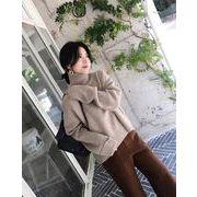 【大きいサイズL-3XL】【秋冬新作】ファッションセーター♪ブラック/アンズ2色展開◆