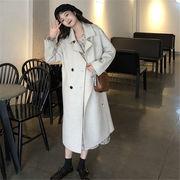 韓国 スタイル ファッション レディース 2018 心地良い 無地 ダッフル コート アウター