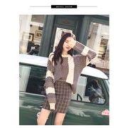 秋冬新商品730380 大きいサイズ 韓国 レディース ファッション  セーター パーカー  3L 4L 5L