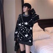 秋冬新商品730389 大きいサイズ 韓国 レディース ファッション  セーター ワンピース 3L 4L 5L