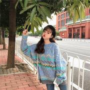 秋冬新商品730390 大きいサイズ 韓国 レディース ファッション  セーター パーカー  3L 4L 5L