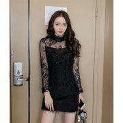 Fashions、2018新品  韓国ファッション  CHIC気質  レーヨン  タッセル  ワンビース