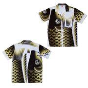 日本製 made in japanアロハシャツ 黒 XL 箔無 178180