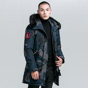ファッション ジャケット コート メンズ   新作 冬着 迷彩 ロングセクション カジュアル ジュニア SALE 冬