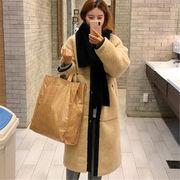 韓国 スタイル 秋 冬 ファッション ゆったり 配色 コート