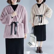 韓国ファッション  CHIC気質  防寒  大きいサイズ 暖かい コート