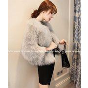 限定SALE価格/韓国ファッション/大人気/暖かい/厚手/フォックス/ファー・毛皮/フェイクファー/コート