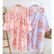 レディース 浴衣 パジャマ 和風 コットン ガーゼ 桜 サウナ 風呂服