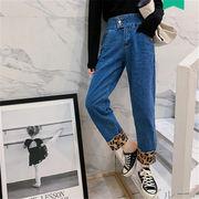 韓国 スタイル ファッション 秋 冬 激安 ヴィンテージ 着痩せ効果抜群 デニム パンツ ジーンズ