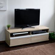 ◎テレビ台 120cm ロータイプ 50インチ 大型テレビ対応 オーク JTV-12OAK