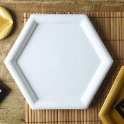 小田陶器 Meji(メジ) 大皿 亀甲 白色[美濃焼]