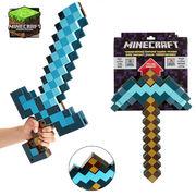 Minecraftマインクラフト ツルハシ 剣 おもちゃフィギュア変形武器 変形ソードダイヤの剣FCW1