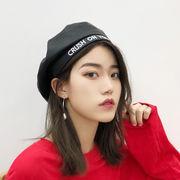 秋冬新発売 韓国風 ベレー帽 レディース PU 帽子