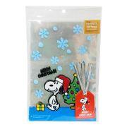 【ラッピング用品】スヌーピー クリスマスギフト袋&ワイヤー 10セット/サンタさん