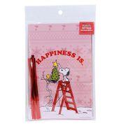 【ラッピング用品】スヌーピー クリスマスギフト袋&ワイヤー 10セット/ハピネスイズツリー