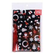 【ラッピング用品】スヌーピー クリスマスギフト袋&ワイヤー 10セット/クリスマス