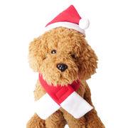 犬 服 犬服 犬の服 サンタ クリスマス コスプレコスチューム マフラー 帽子セット ドッグウェア 洋服