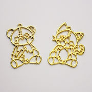 格安☆ハロウィン DIYハンドメイド金属チャーム◆パーツ材料手芸◆レジン枠空枠◆熊◆フレーム30枚
