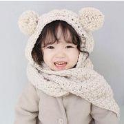 韓国風帽子★新しいスタイル★ニット  帽★キッズ 帽.マフラー